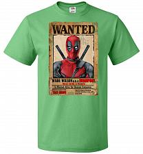 Buy Deadpool Wanted Poster Youth Unisex T-Shirt Pop Culture Graphic Tee (Youth XL/Kelly)