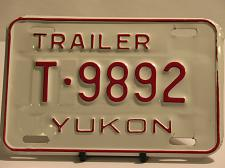 Buy Yukon License Plate Trailer T 9892 New Old Stock Vintage NOS