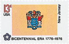 Buy 1976 13c New Jersey State Flag, Bicentennial Era Scott 1635 Mint F/VF NH
