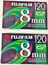 Buy 2 Packs NEW Fujifilm 8mm High Quality P6-120 Videocassette Tapes for Camcorder