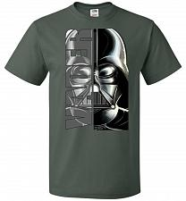 Buy Vader Youth Unisex T-Shirt Pop Culture Graphic Tee (Youth XL/Forest Green) Humor Funn