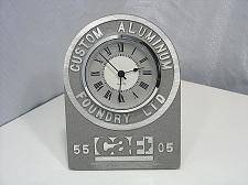 Buy Clock Custom Aluminum Foundry Cast Anniversary CAF Industrial Steampunk