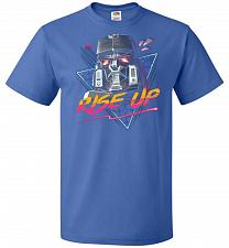 Buy Rise Up Unisex T-Shirt Pop Culture Graphic Tee (S/Royal) Humor Funny Nerdy Geeky Shir