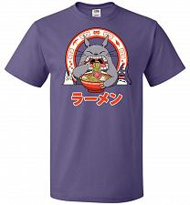 Buy The Neighbor's Ramen Unisex T-Shirt Pop Culture Graphic Tee (XL/Purple) Humor Funny N