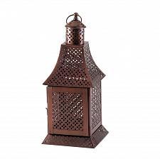 Buy *17368U - Labyrinth Bronze Color Pillar Candle Lantern