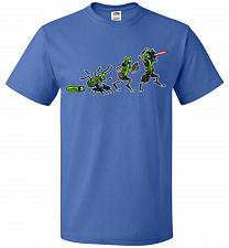 Buy Pickle Rick Evolution Unisex T-Shirt Pop Culture Graphic Tee (6XL/Royal) Humor Funny