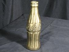"Buy Vintage Coca-Cola Coke Brass Bottle Paperweight Collectible 7"" Tall Heavy"