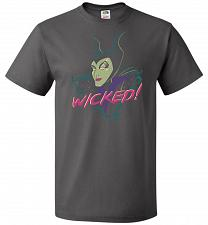 Buy Wicked! Unisex T-Shirt Pop Culture Graphic Tee (L/Charcoal Grey) Humor Funny Nerdy Ge
