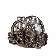 Buy *17548U - Wagon Wheel Western Style Salt & Pepper Shaker Set