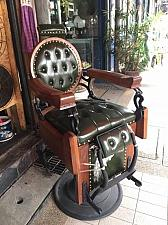 Buy ANTIQUE Barber Chair-1920s Vintage – Green Leather