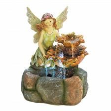 Buy *18478U - Fairy Figurine Garden Water Fountain Yard Art
