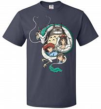 Buy Ghibli Unisex T-Shirt Pop Culture Graphic Tee (3XL/J Navy) Humor Funny Nerdy Geeky Sh