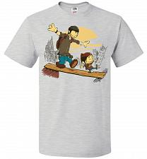 Buy Just the 2 of Us Unisex T-Shirt Pop Culture Graphic Tee (5XL/Ash) Humor Funny Nerdy G