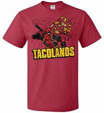 Buy Tacolands Unisex T-Shirt Pop Culture Graphic Tee (3XL/True Red) Humor Funny Nerdy Gee