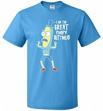 Buy The Great Poopy Buttholio Unisex T-Shirt Pop Culture Graphic Tee (S/Pacific Blue) Hum