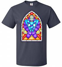Buy Apocolypse Stained Glass Unisex T-Shirt Pop Culture Graphic Tee (5XL/J Navy) Humor Fu