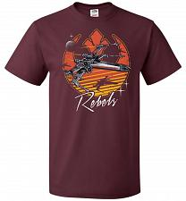 Buy Retro Rebels Unisex T-Shirt Pop Culture Graphic Tee (6XL/Maroon) Humor Funny Nerdy Ge