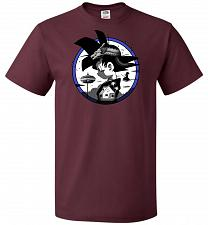 Buy Saiyan Quest Unisex T-Shirt Pop Culture Graphic Tee (4XL/Maroon) Humor Funny Nerdy Ge