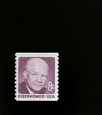 Buy 1971 8c Eisenhower, Deep Claret, Coil Scott 1402 Mint F/VF NH