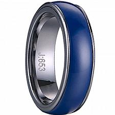 Buy coi Jewelry Tungsten Carbide Ring With Blue Ceramic - TG1421(Size:US10)