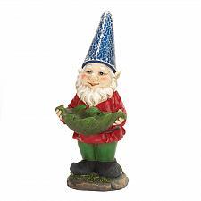 Buy *16218U - Bird Feeder Garden Gnome Solar Light Up Blue Hat Statue Yard Art