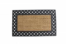 Buy *17939U - Basket Weave Border Rubber & Coir Welcome Door Mat