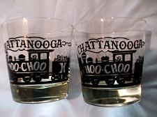Buy 2 Chattanooga Choo Choo Train Glasses Bar Beer Glasses