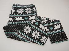 Buy Women Leggings CHRISTMAS POLAR BEARS SIZE XL Multicolor Skinny Legs Mid Rise