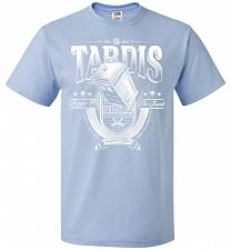 Buy Anywhere and Everywhere Tardis Unisex T-Shirt Pop Culture Graphic Tee (XL/Light Blue)