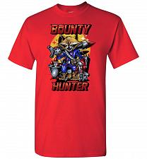 Buy Bounty Hunter Rocket Raccoon Unisex T-Shirt Pop Culture Graphic Tee (L/Red) Humor Fun