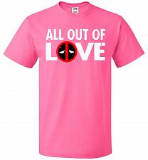 Buy All Out Of Love Unisex T-Shirt Pop Culture Graphic Tee (L/Neon Pink) Humor Funny Nerd