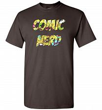Buy Comic Nerd Unisex T-Shirt Pop Culture Graphic Tee (2XL/Dark Chocolate) Humor Funny Ne