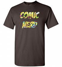 Buy Comic Nerd Unisex T-Shirt Pop Culture Graphic Tee (XL/Dark Chocolate) Humor Funny Ner