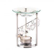 Buy *17400U - Bejeweled Heart Bobble Silver Iron Oil Warmer