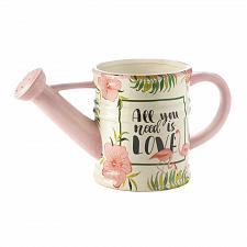 Buy *18327U - All You Need Is Love Pink Flamingo Watering Can Planter