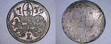 Buy 1739 Austrian States Salzburg Uniface 1/2 Kreuzer World Silver Coin
