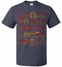 Buy Game Of Throne Heads Minimalism Adult Unisex T-Shirt Pop Culture Graphic Tee (3XL/J N