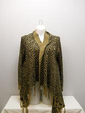 Buy Womens Cardigan Wrap Flyaway SIZE 2XL FADED GLORY Brown Geometric Long Sleeve