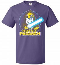 Buy That's A Padawan Unisex T-Shirt Pop Culture Graphic Tee (XL/Purple) Humor Funny Nerdy