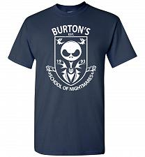 Buy Burton's School Of Nightmares Unisex T-Shirt Pop Culture Graphic Tee (S/Navy) Humor F