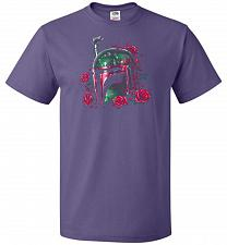 Buy Phantom Of The Empire Fett Unisex T-Shirt Pop Culture Graphic Tee (5XL/Purple) Humor