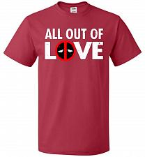Buy All Out Of Love Unisex T-Shirt Pop Culture Graphic Tee (XL/True Red) Humor Funny Nerd
