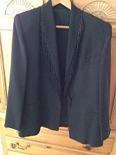 Buy Women's Custom Black Beaded Jacket Size Large