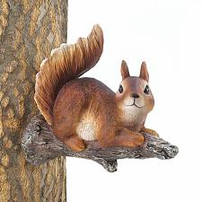 Buy *17219U - Lounging Brown Squirrel Statue Tree Decor