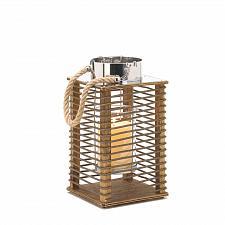 "Buy 15211U - Hudson Small 12"" Wood Wire Votive Candle Lantern"