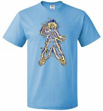 Buy Mysterious Youth Trunks Unisex T-Shirt Pop Culture Graphic Tee (5XL/Aquatic Blue) Hum
