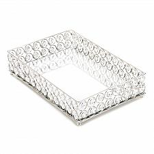 Buy *17443U - Shimmer Jeweled Clear Gem Rectangular Display Serving Tray
