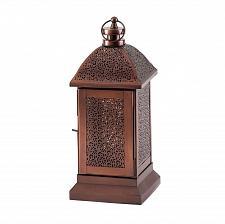 "Buy *17364U - Peregrine Small 12"" Bronze Color Iron Pillar Candle Lantern"