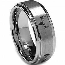 Buy coi Jewelry Titanium Deer Track Wedding Band Ring-JT3265(Size US6.5)