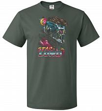 Buy Retro Star Lord Unisex T-Shirt Pop Culture Graphic Tee (2XL/Forest Green) Humor Funny